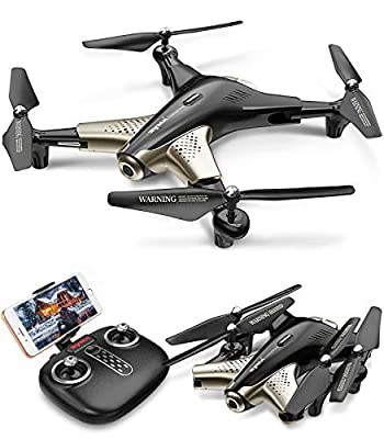 Syma X300 RC Drone with HD 1080P Camera,Drones with 2.4GHz Remote Control FPV WiFi Real-Time Transmission Altitude Hold 3D Flips Indoor Outdoor APP Controlled Quadcopter with 2 batteries