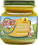 Earth's Best Organic Stage 2 Baby Food, Corn and Butternut Squash, 4...