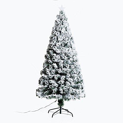 HomCom Arbol de Navidad Verde PVC Φ82x180cm