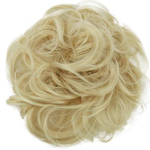PRETTYSHOP Postizo Coletero Peinado alto, VOLUMINOSO, rizado, Moño descuidado rubia platino #88T613 G13E