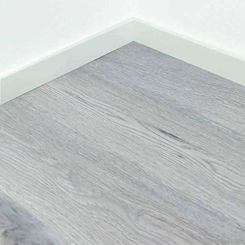 Vinylboden Klicksystem mit Holzoptik 4x183x1220mm (Stärke x Breite x Länge)   geeignet für Feuchträume, Gastro, Fußbodenheizung   2 m² pro Paket   Designbodenbelag von Nordje® (Evening)