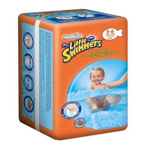 Huggies Little Swimmers Pannolini, Taglia 5-6 (12-18 kg), 11 Pezzi