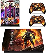 Anitee Xbox One X Skin Set Vinyl Decal Skin Stickers Protective for Xbox One X Console Kinect 2 Controllers - shooter game