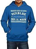 Shirt Happenz Schalke #1 Premium Hoodie | Fussball | Fan-Trikot | #jeden-verdammten-Samstag | Herren | Kapuzenpullover, Farbe:Blau;Größe:3XL