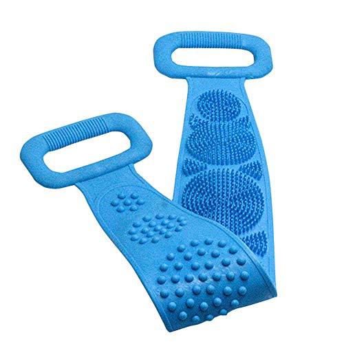 Silicone Body Brush, Silicone Dual Sided Back Scrubber Body Back Exfoliating Scrubber Tapis de bain Facile à nettoyer