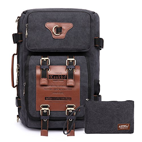 Rucksacke Herren Vintage Military Canvas Rucksäcke Retro Wanderrucksack Hiking Backpack...