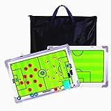 MKNZOME Pizarras de Tácticas para Entrenadores Futbol Tablero, Táctico de Fútbol Pizarra, Tactica Futbol Magnetica Tablero Entrenamiento Kit, para el Entrenamiento de Fútbol, Los Partidos