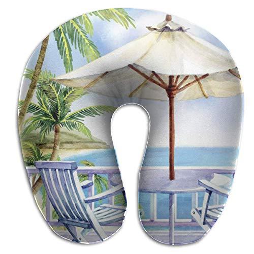 Almohada en Forma de U con Cuello, sillas de Playa, Viaje, Almohada Multifuncional, Coche, avión