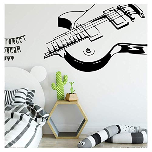 Adhesivo de pared con motivo de instrumento musical para accesorios para decorar la habitación de los niños Adhesivos de pared con vinilo autoadhesivo Impermeable a la pared 43 cm x 66 cm