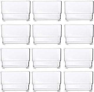 """STORi Clear Plastic Drawer Organizers 3"""" x 3"""" x 2"""" l Set of 12 (Renewed)"""
