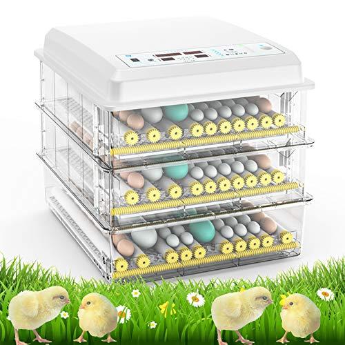 RFL Incubadora de Huevos Completamente automática, con incubadoras de Control de Temperatura y Humedad, para incubadora de Aves de Corral, Equipo para incubar con Giro automático White-220V 176 Egg