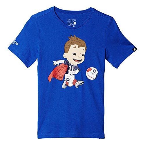 adidas Euro Mascot - Camiseta para niño, Color Azul, Talla 176