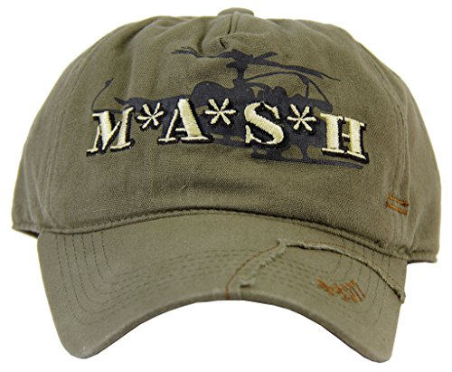 MASH Medi-Vac Logo Olive Green Adjustable Cap Hat