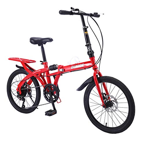Great Features Of pan hui 16-inch Folding Bike, 6-Speed Cycling Commuter Foldable Bicycle for Adult ...