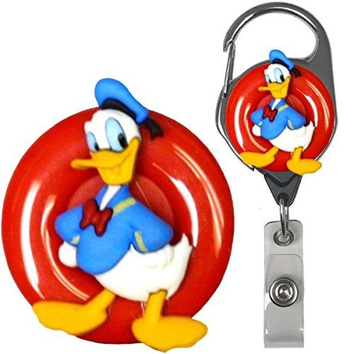 Cartoon Duck Character Real Charming Premium Retractable Metal Carabiner ID Badge Holder Badge Reel Don MC