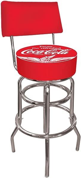 可口可乐翅膀加厚旋转酒吧凳带靠背
