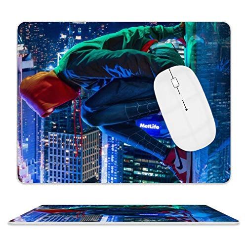 IFMAXCOX Sp-ider M-an Mil-ES Mo-rales Gaming Mouse Pad Anti Wrinkle Mouse Pad Leather Base for Computers Laptop 8 x 10 Inch