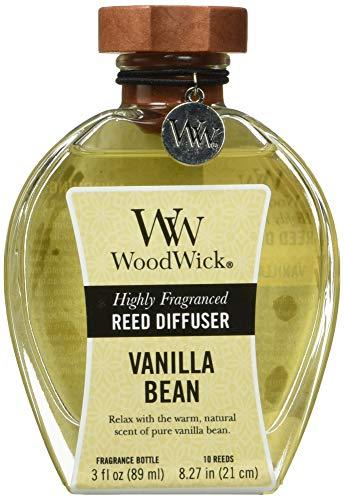 WoodWick Ribbonwick Reed Diffuser, Vanilla Bean, 3 Ounces