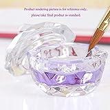 Generic Nail Art Tool Crystal Glass Dappen Dish Cup Nail Art Acrylic Liquid Powder