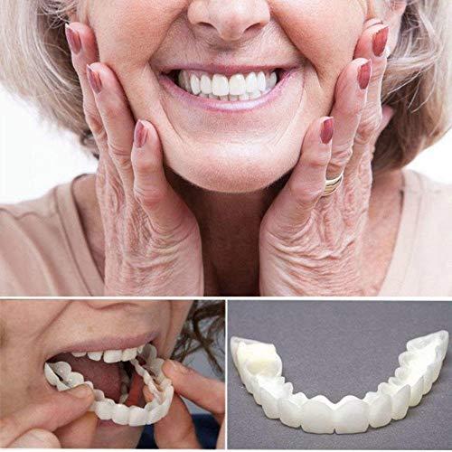 QINAIDI Zahnspangen Instant Veneers Prothesen, Snap On Smile, Prothesenzähne Oben und unten kosmetisches Furnier, perfektes Lächeln in Minuten,Lowerbraces