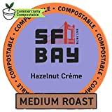 SF Bay Coffee Hazelnut Crème 80 Ct Flavored Medium Roast Compostable Coffee Pods, K Cup Compatible including Keurig 2.0 (Packaging May Vary)