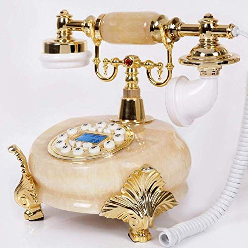 LXYZ Reloj de sobremesa Hometime - Teléfono Antiguo - Teléfono Antiguo con Cable Vintage Shabby Chic, Teléfono Fijo Retro Vintage Teléfono de casa Teléfonos para el hogar Cocina Hotel Oficina con