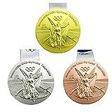 Medaglie: repliche delle 32 ° Giochi olimpici Medaglie, 2020 Olimpiadi di Tokyo Gold / Argento / Medaglia in bronzo Set. Processo: 1: 1 riincisione, processo di pressofusione, alta durezza. La superficie è elettroloplata, e non è facile sbiadire. Dia...