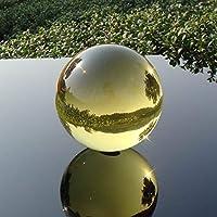 透き通ったガラス球 黄色いクリスタルボールのカラフルなガラス球マジックボール飾りグローブ家の装飾ミニガラスボール 水晶球 (Color : Ball, Size : 12cm)