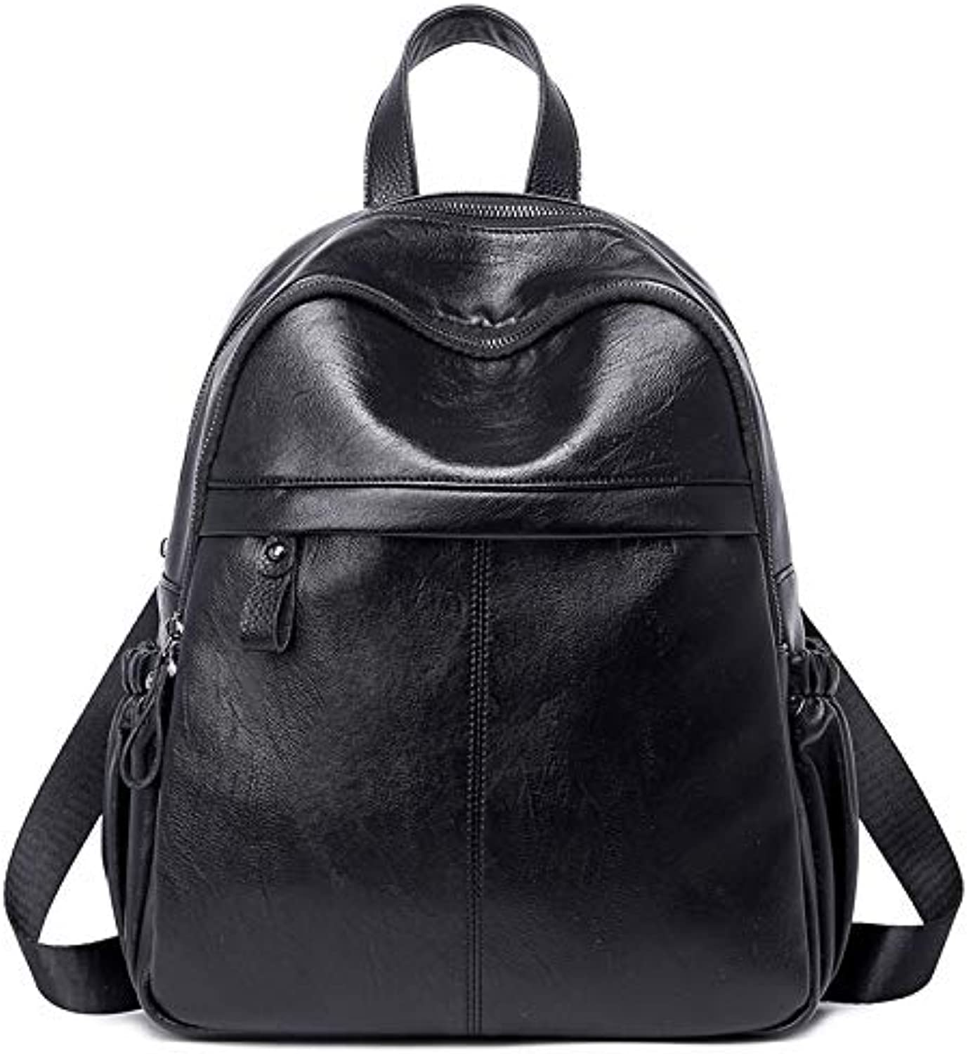 Fashion Wild Large Capacity Casual Soft Leather Backpack Suitable for Travel, Shopping, Dating