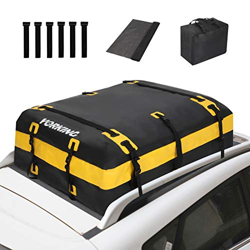 YORKING Car Rooftop Cargo Carrier, 20 Cubic Feet Waterproof Roof Top Luggage Bag Anti-Tear with...