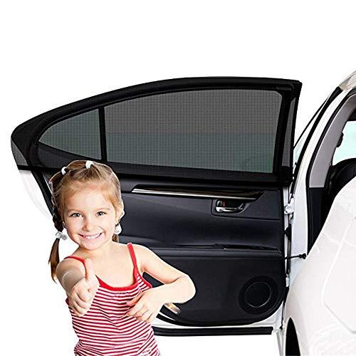 Etmury Sonnenschutz Auto Kinder/Baby (2 Stück), Sonnenblende Auto für Baby mit UV Schutz Autofenster Auto Fenster Sun Bezug Heckscheibe Seitenscheibe Sonnenblende für die Meisten Autos