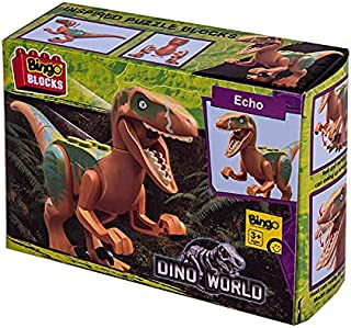 Bingo Dino World Echo T-Rex Action Figure Shaped Building Blocks Toy - 2725450582125