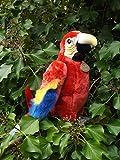 Aurora Scarlett Macaw Stuffed Animal Signature Plush Scarlet Macaw