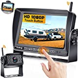 Wireless Backup Camera for RV HD 1080P with 7 Inch Touch Button Monitor for Trucks,Campers,Trailers with Adapter For Furrion Pre-wired Mount Kit High-Speed Rear View Observation IR Night Vision Y31