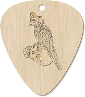 7 x 'Parrot Pirate' Guitar Picks / Pendants (GP00021199)