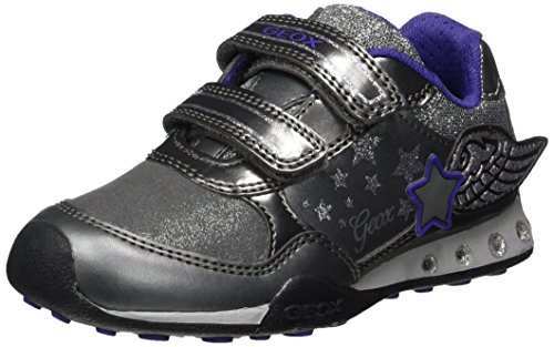 Geox JR New Jocker Girl A, Zapatillas Niños, Gris (Dk Silver), 31 EU