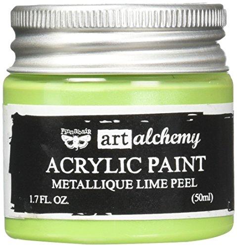 Prima Marketing finnabair Art Alchemy Peinture Acrylique Fluide 1,7 Ounces-Metallique Citron Vert, d'autres, Multicolore
