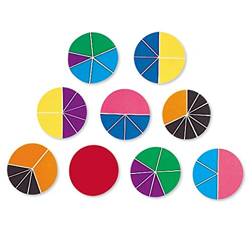 Learning Resources Rainbow Fractions Deluxe Circles with Storage, 9 Circles, Ages 6+
