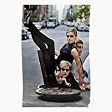 BLUEFLY Fashion Factory Andy Warhol and Girl Icon Photography Black Sedgwick White Sixties Edie for Home Decor Wall Art Print Poster