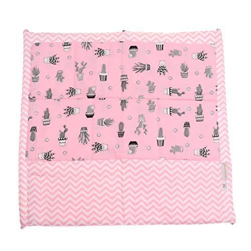 Fenteer Poches pour Lit Bébé Sac de Rangement Complet Coton Infant Lit Sac à Main Diaper - Cactus Rose