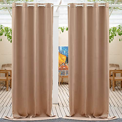 Anjee Outdoor Curtains 95 inches Length - Waterproof and Light...