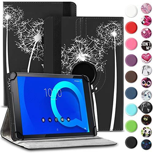 Tablet Hülle kompatibel für Alcatel 1T 10 Tasche Schutzhülle Hülle Schutz Cover 360° Drehbar 10.1 Zoll Etui, Farbe:Motiv 12