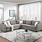 AUKUYEE Modern Fabric Sectional Couch Living Room, 6-Pcs L-Shaped Corner Sofa...