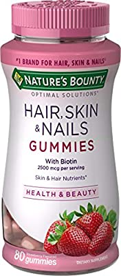 Nature's Bounty Optimal Solutions Hair, Skin and Nails Gummies, 80 Count