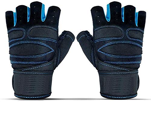 """GOCART WITH G LOGO Weightlifting Gloves with 12"""" Wrist Wrap Support for Gym, Power Lifting, Workout, Weightlifting, Cross fit, Fitness, Sports for Men and Women"""