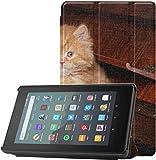 Funda Protectora Kindle A Cute Cat Playing The Piano Funda Amazon Kindle Fire HD 7 para Tableta Fire...