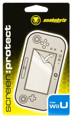 snakebyte Wii U screen:protect, Bildschirmschutzfolie für Nintendo Wii U Gamepad