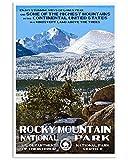 Rocky Mountain Poster Kein Frame Board für Bürodekor,