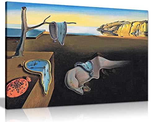 Panther Print Salvador Dali Persistance of Time Kunstdruck auf Leinwand, 30,5 x 20,3 cm