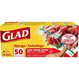 Glad Zipper Food Storage Plastic Bags - Quart - 50 Count ( Packaging may vary )